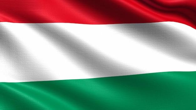 Bandiera dell'ungheria, con trama del tessuto ondeggiante