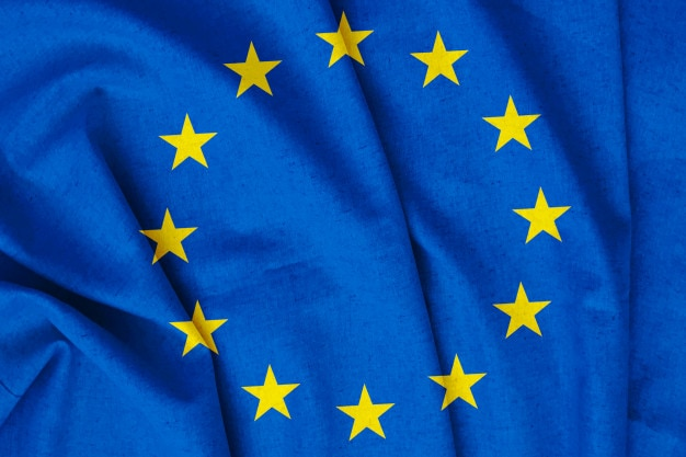 Bandiera dell'unione europea vintage