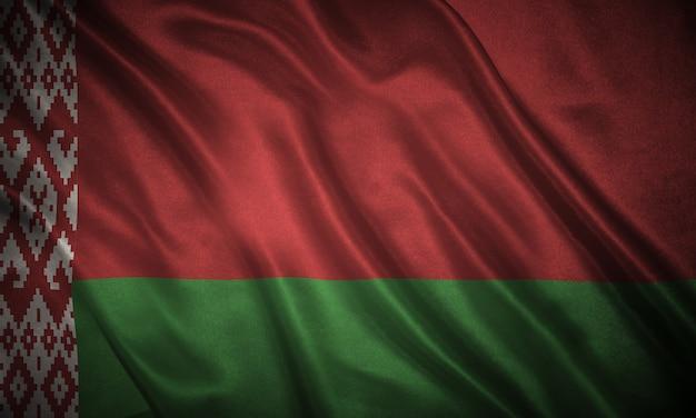 Bandiera della bielorussia sullo sfondo