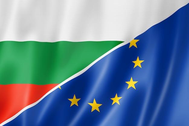Bandiera della bulgaria e dell'europa