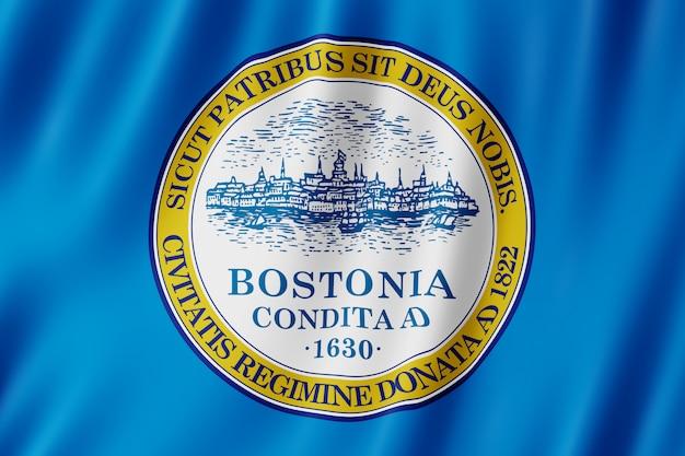 Bandiera della città di boston, massachusetts (us)