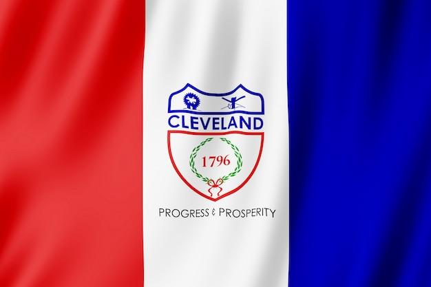 Bandiera della città di cleveland, ohio (stati uniti)