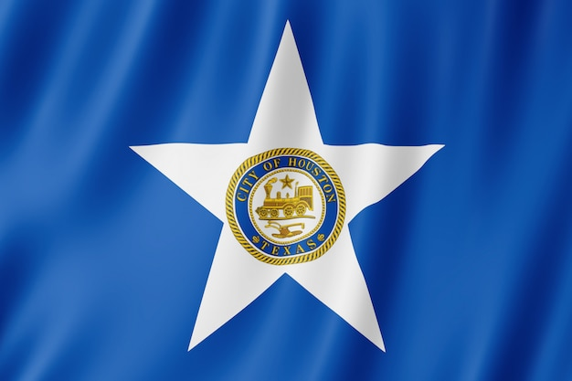 Bandiera della città di houston, texas (us)