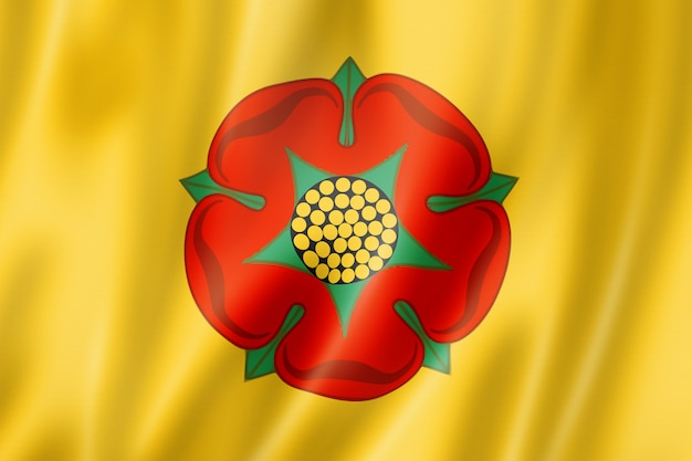 Bandiera della contea di lancashire, regno unito