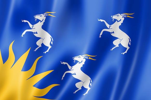 Bandiera della contea di merionethshire, regno unito