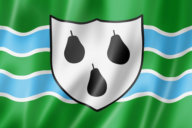 Bandiera della contea di worcestershire, regno unito