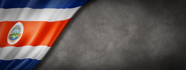 Bandiera della costa rica sul banner muro di cemento