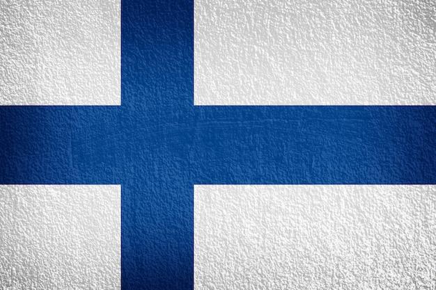 Bandiera della finlandia sulla parete di texture