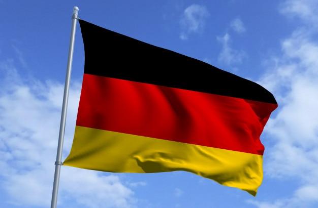 Bandiera della germania in volo