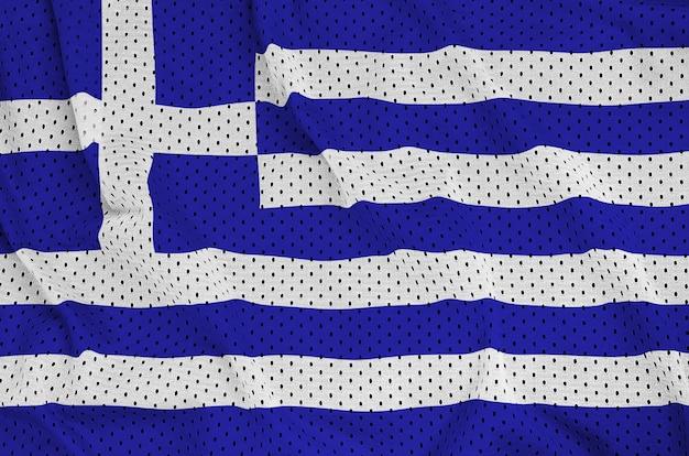 Bandiera della grecia stampata su una rete di nylon poliestere