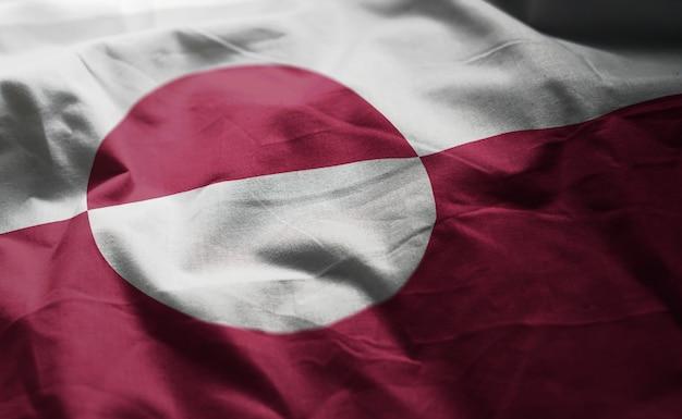 Bandiera della groenlandia arruffata da vicino
