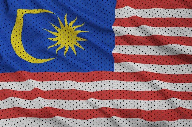 Bandiera della malesia stampata su una rete di nylon poliestere