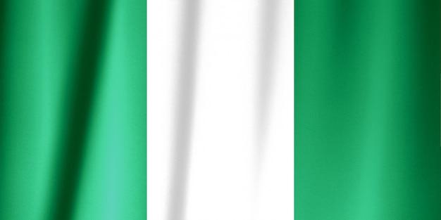 Bandiera della nigeria su un drappo di seta