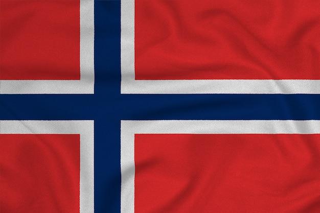 Bandiera della norvegia dalla fabbrica tessuto a maglia