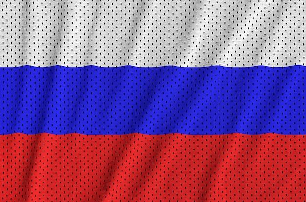 Bandiera della russia stampata su una rete di nylon poliestere