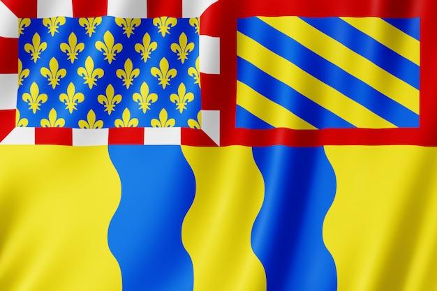 Bandiera della saona e loira, francia