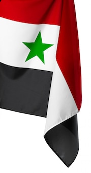 Bandiera della siria su bianco