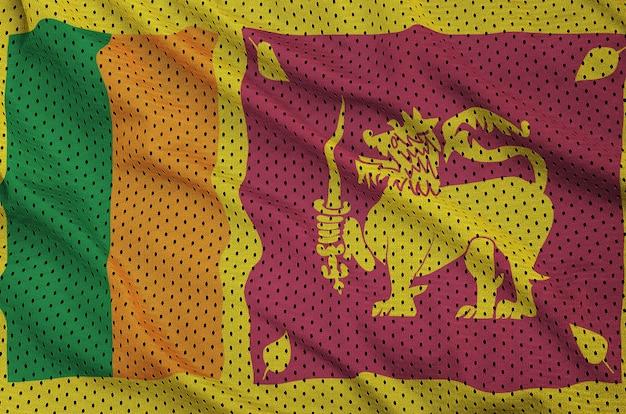 Bandiera dello sri lanka stampata su un tessuto a rete per abbigliamento sportivo in nylon poliestere