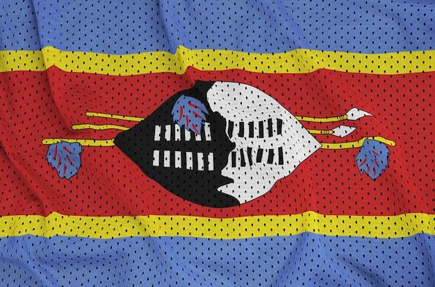 Bandiera dello swaziland stampata su una rete di nylon poliestere