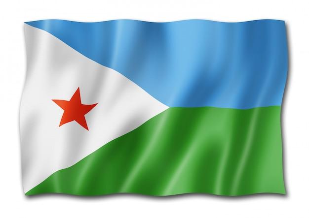 Bandiera di gibuti isolata