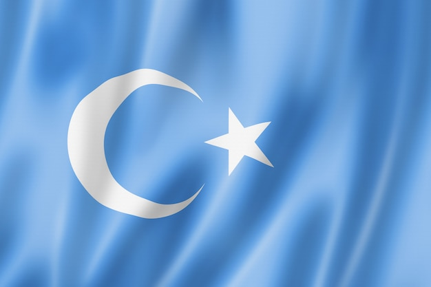 Bandiera etnica degli uiguri di kokbayraq, porcellana