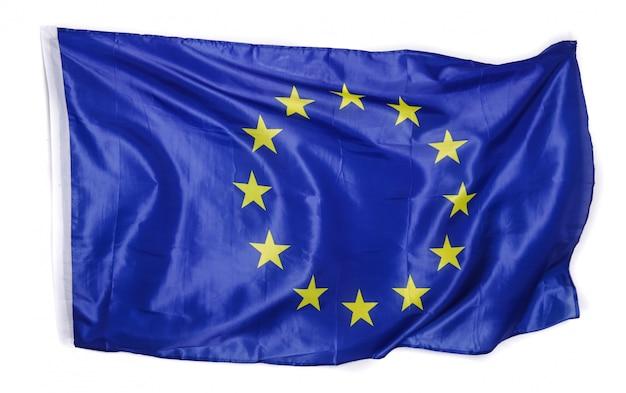 Bandiera europea su bianco