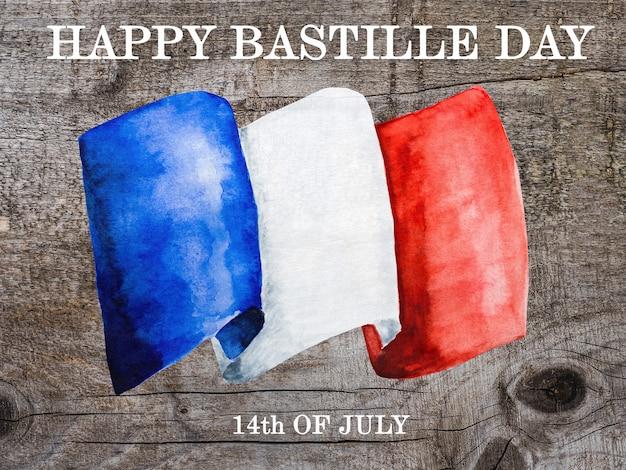 Bandiera francese. bellissimo biglietto di auguri.