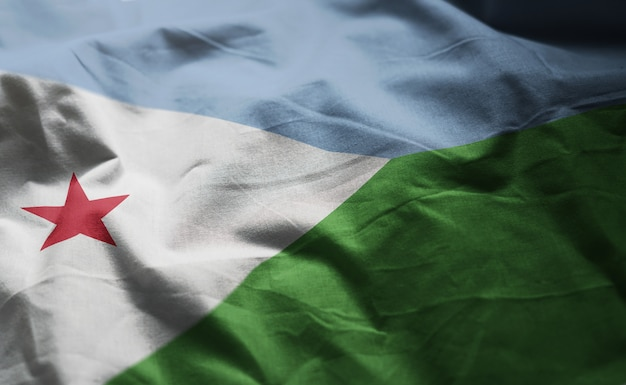 Bandiera gibuti close up rumpled