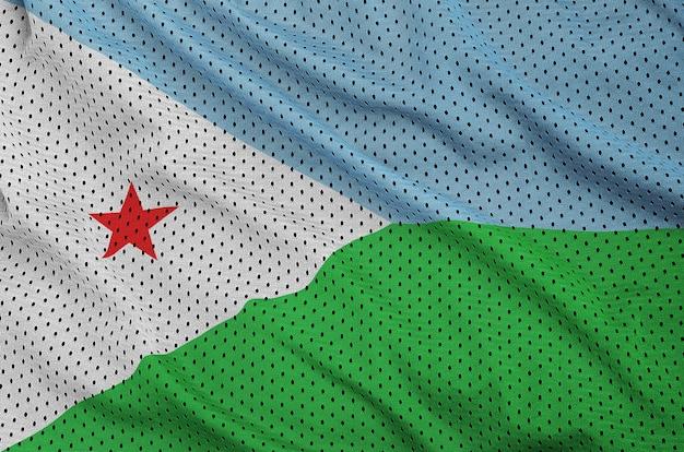 Bandiera gibuti stampata su un tessuto a rete per abbigliamento sportivo in nylon poliestere