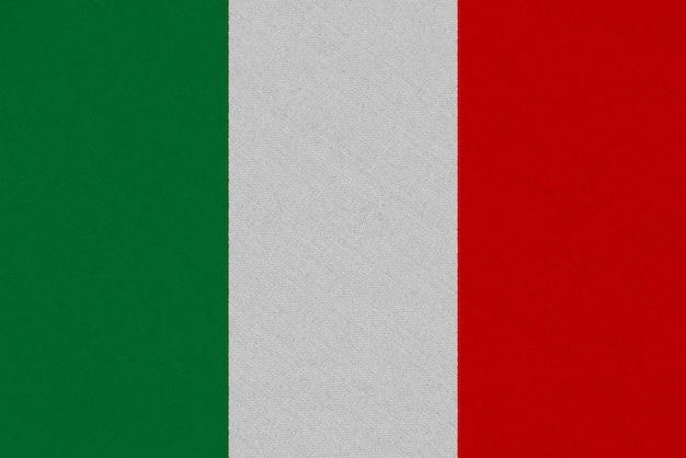 Bandiera in tessuto italia