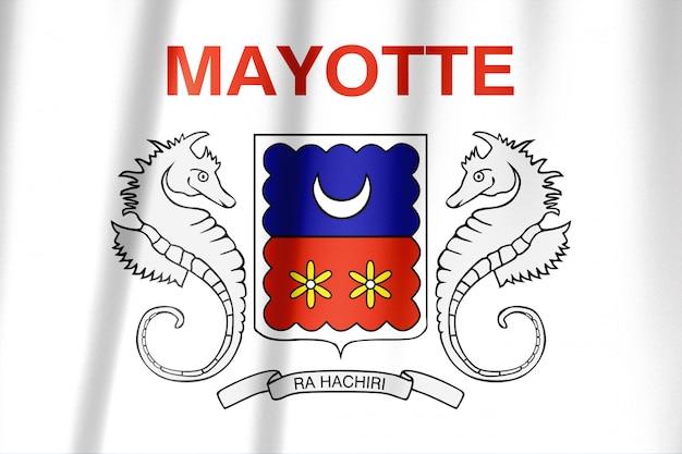 Bandiera mayotte con trama del tessuto
