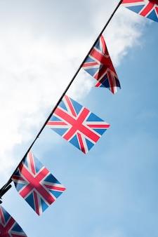 Bandiera nazionale britannica e inglese presso il ristorante e il pub, londra