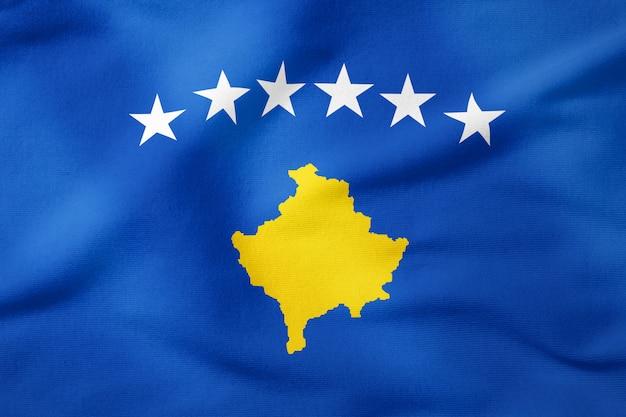 Bandiera nazionale del kosovo - forma rettangolare simbolo patriottico