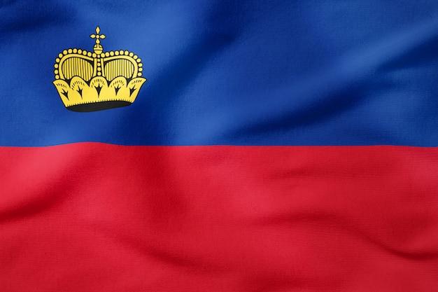 Bandiera nazionale del liechtenstein - simbolo patriottico di forma rettangolare