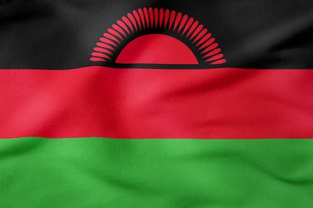 Bandiera nazionale del malawi - forma rettangolare simbolo patriottico