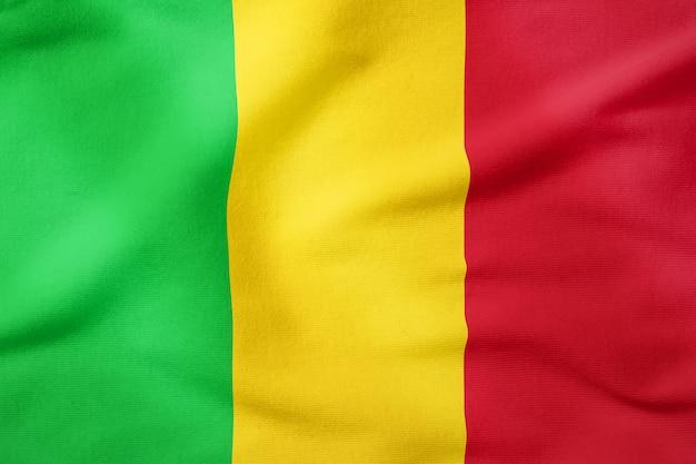 Bandiera nazionale del mali - simbolo patriottico di forma rettangolare