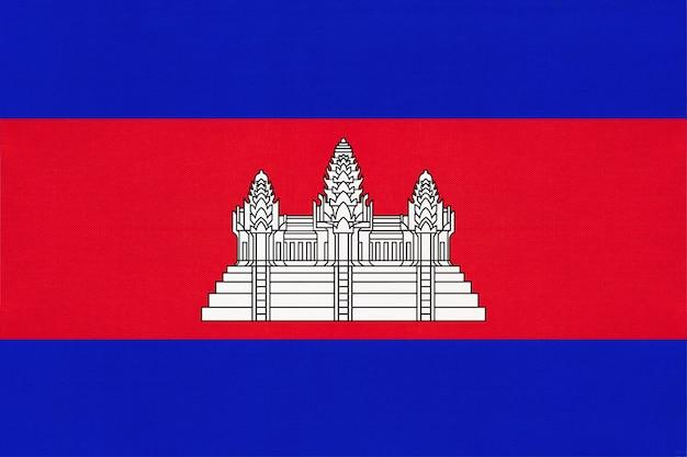 Bandiera nazionale del tessuto della cambogia
