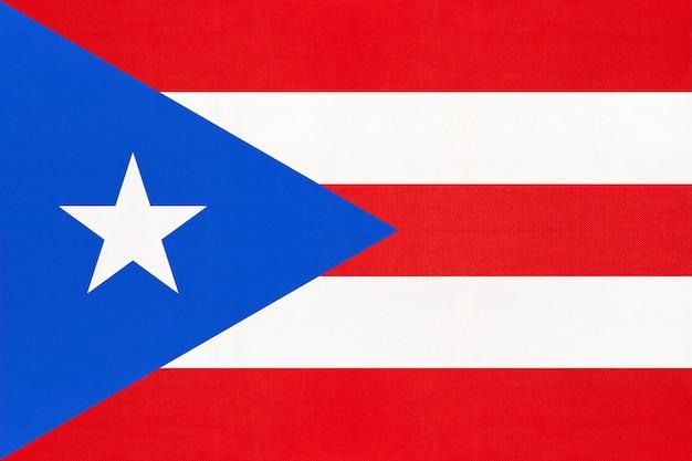 Bandiera nazionale del tessuto di puerto rico