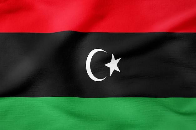 Bandiera nazionale della libia - forma rettangolare simbolo patriottico