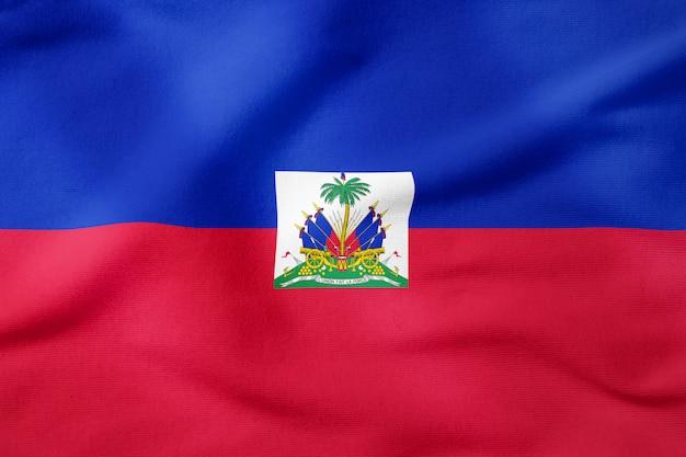 Bandiera nazionale di haiti - forma rettangolare simbolo patriottico