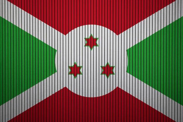 Bandiera nazionale dipinta del burundi su un muro di cemento