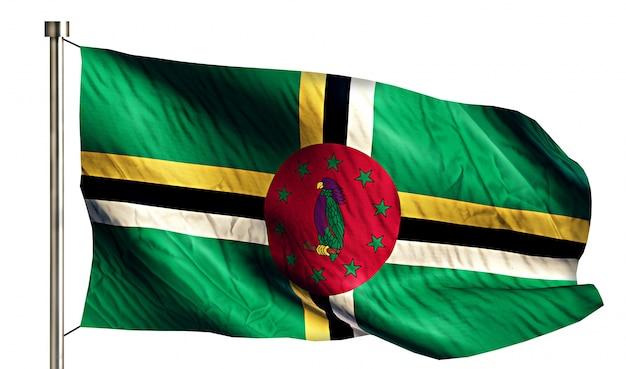 Bandiera nazionale dominica isolato 3d sfondo bianco