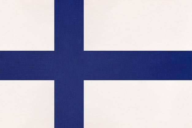 Bandiera nazionale finlandese in tessuto