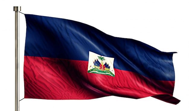 Bandiera nazionale haiti isolato 3d sfondo bianco