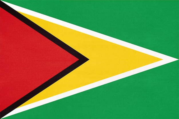 Bandiera nazionale in tessuto della guyana