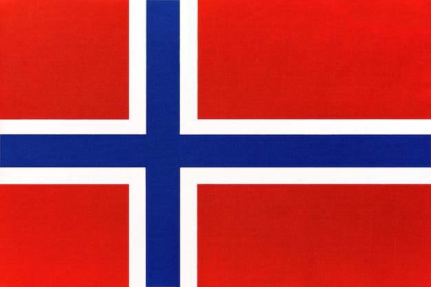 Bandiera nazionale norvegese in tessuto