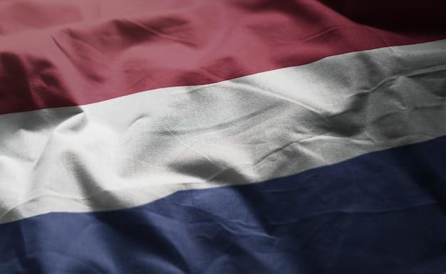 Bandiera olandese arruffata da vicino