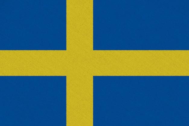 Bandiera svedese in tessuto