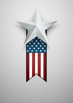 Bandiera usa con stella.