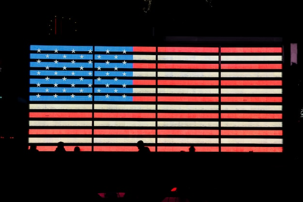 Bandiera usa incandescente